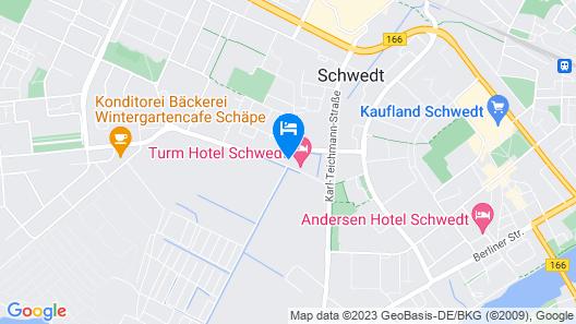Turmhotel Schwedt Map