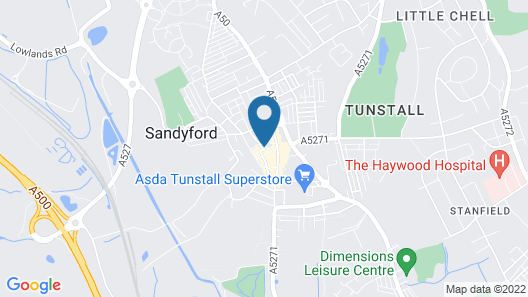 Sneyd Arms Hotel Map
