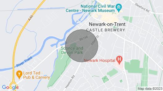 2 Bedroom Accommodation in Newark Map