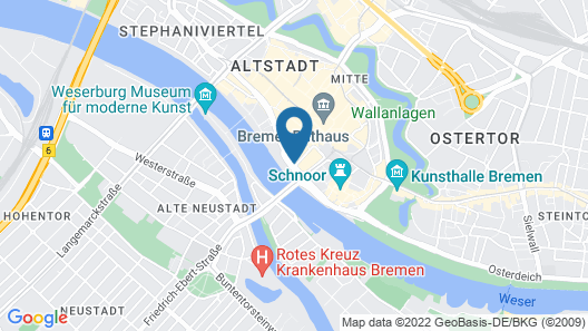 Radisson Blu Hotel, Bremen Map