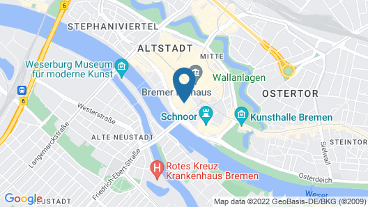 H+ Hotel Bremen Map