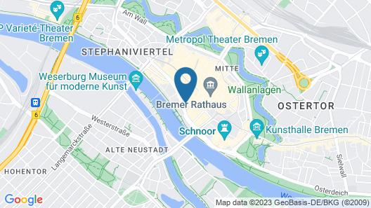 ATLANTIC Grand Hotel Bremen Map