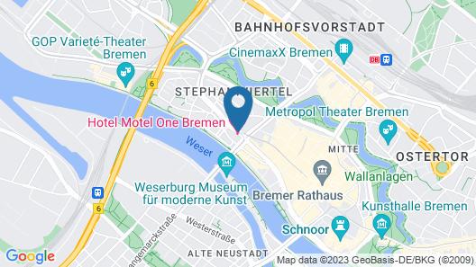 Motel One Bremen Map