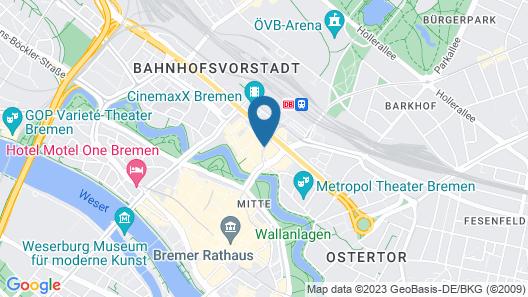 Best Western Hotel Bremen-City Map