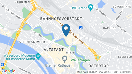 ACHAT Hotel Bremen City Map
