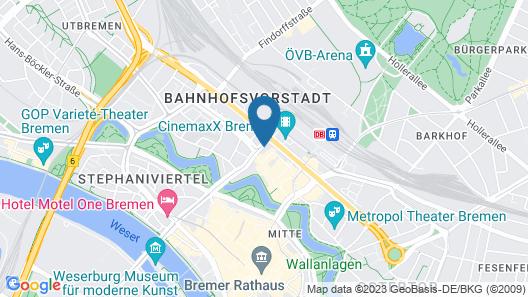 Select Hotel City Bremen Map