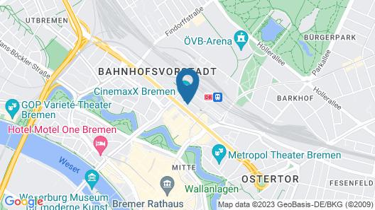 Best Western Hotel Zur Post Map