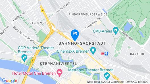 a&o Bremen Hauptbahnhof Map