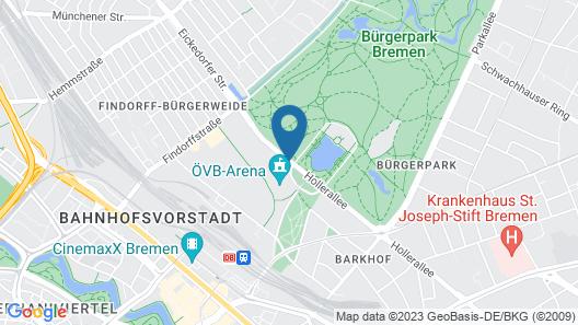 Maritim Hotel Bremen Map