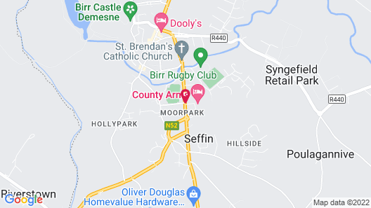 County Arms Hotel Map