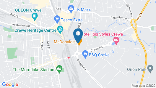 Holiday Inn Express Crewe Map