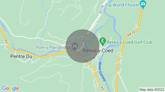In the Village of Betws-y-coed is a Semi-detached Cottage Manoros in a Convenient Location in the Sn Map