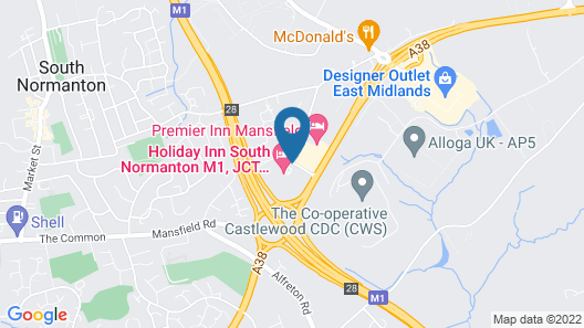 Holiday Inn South Normanton M1, Jct.28 Map