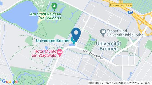 Atlantic Hotel Universum Map
