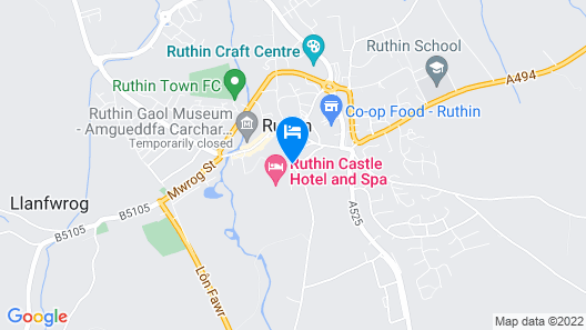 Ruthin Castle Hotel & Moat Spa Map