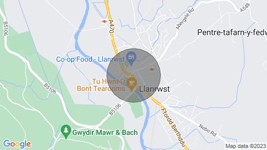 Old Hand Apartment, Llanrwst, Conwy, Snowdonia Map