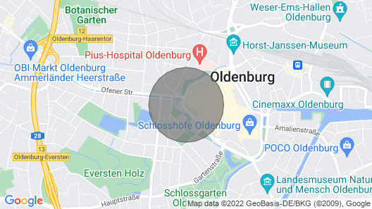Your temporary home in Oldenburg City Apartment 1 Map