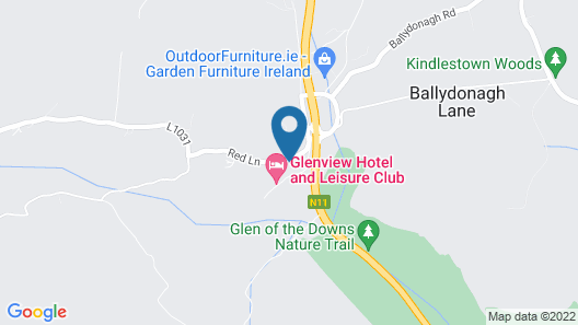 The Glenview Hotel And Leisure Club Map