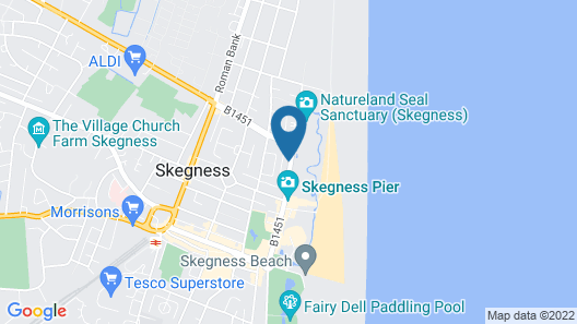 North Parade Seafront Accommodation Map