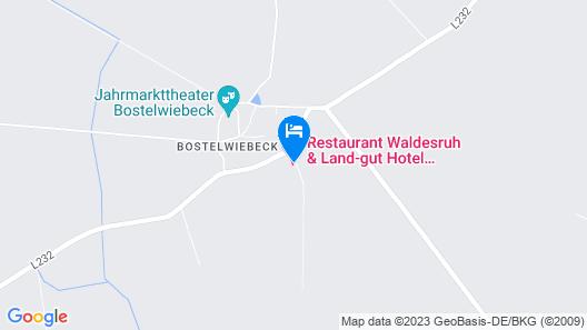 Land-Gut-Hotel Waldesruh Map