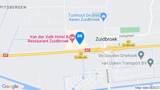 Van der Valk Hotel Groningen - Zuidbroek A7 Map