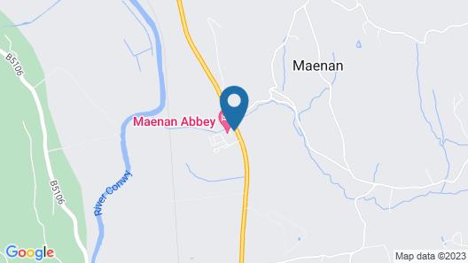Maenan Abbey Hotel Map