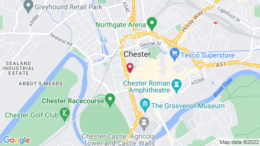 Crowne Plaza Chester Map