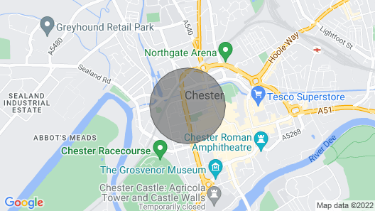 The Gathering Chester 2 Sleeps 13 Very Close to City Centre & Racecourse & Within Walls Map