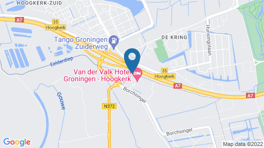 Van der Valk Hotel Groningen-Hoogkerk Map
