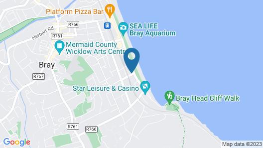 The Strand Hotel - Bray Map