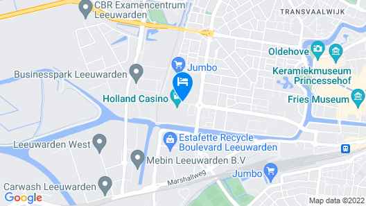 Westcord WTC Hotel Leeuwarden Map