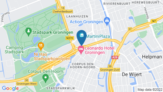 Mercure City Groningen Martiniplaza Hotel  Map