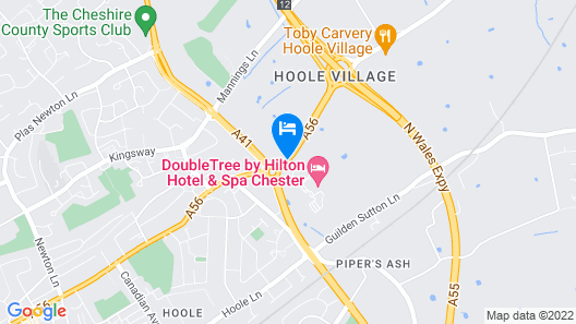 DoubleTree by Hilton Hotel and Spa Chester Map
