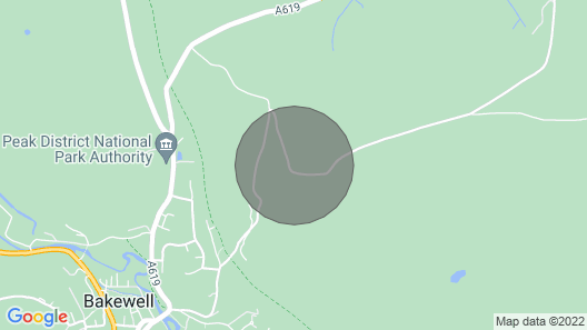Beeley Cottage, Bakewell Peak District Map