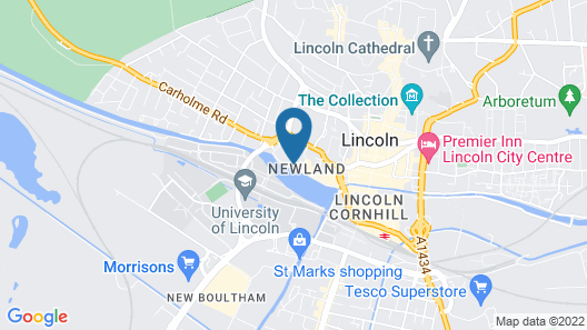 Holiday Inn Lincoln Map