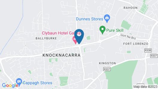Clybaun Hotel Galway Map
