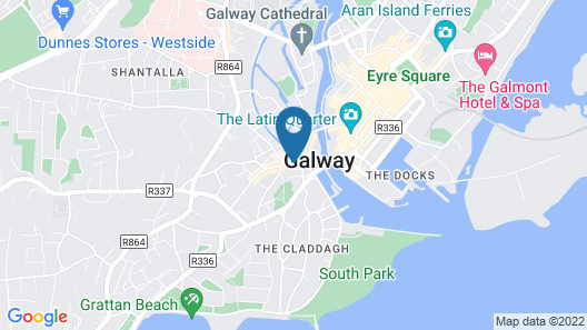 West end Apartments Galway Map