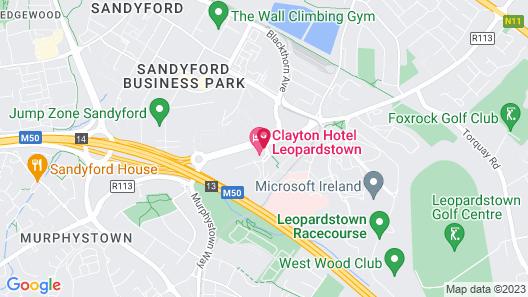 Clayton Hotel Leopardstown Map