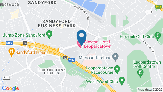 Clayton Hotel Leopardstown Map