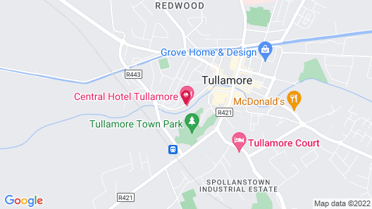Central Hotel Tullamore Map