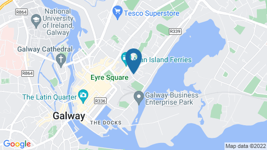 Eyre Square Galway Central Self Catering Map