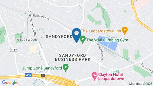 Premier Suites Dublin Sandyford Map