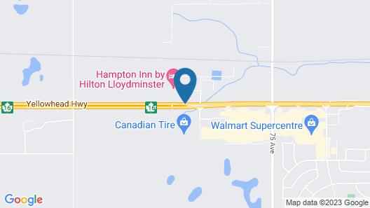 Hampton Inn by Hilton Lloydminster Map