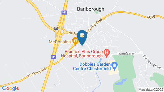 ibis Chesterfield North - Barlborough Map