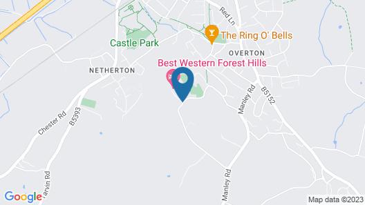 Best Western Frodsham Forest Hills Hotel Map