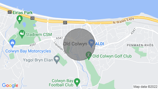 3-bed Apartment on a Grand Scale in Colwyn Bay Map