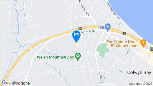 Cae Eithin Cottage, Colwyn Bay, N. Wales (sleeps 8) Map