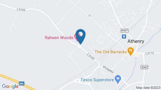 Raheen Woods Hotel Map