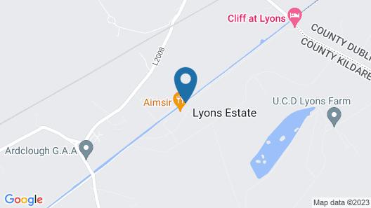 Cliff at Lyons Map