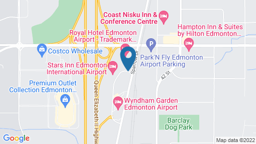Crystal Star Inn Edmonton Airport Map